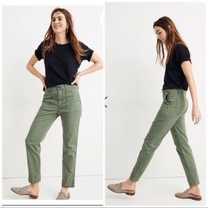 Madewell Stovepipe Fatigue Pants L0016 NWT 28